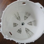 Washing machine split tub