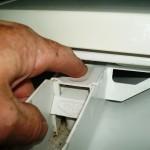 Soap draw button Press down then pull
