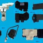 A selection of washing machine door locks