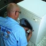 how to replace a washing machine door lock