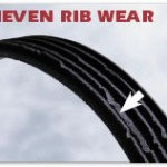 Washing machine drive belt uneven rib wear