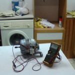 washing machine motor being tested