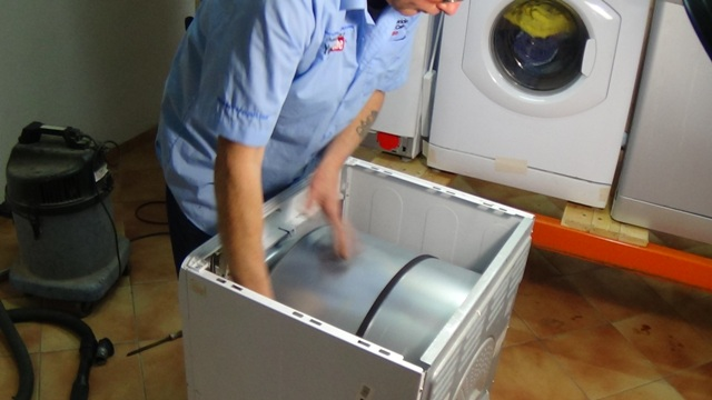 How to replace tumble dryer belt hotpoint indesit for Replace dryer motor or buy new
