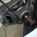 How to replace washing machine belt on motor C.E.SET
