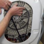 How to replace washing machine motor carbon brushes C.E.SET replacing belt