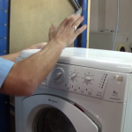 removing lid on mouldy Washing Machine Door Seal