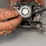 replacing worn washing machine motor carbon brushes