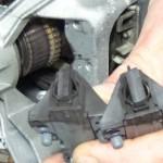 worn washing machine motor carbon brushes