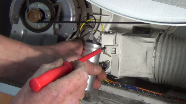 Tumble dryer is not turning diagnose the fault replace for Electric motor capacitor replacement
