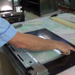 Removing the old heat proof glue from cooker door