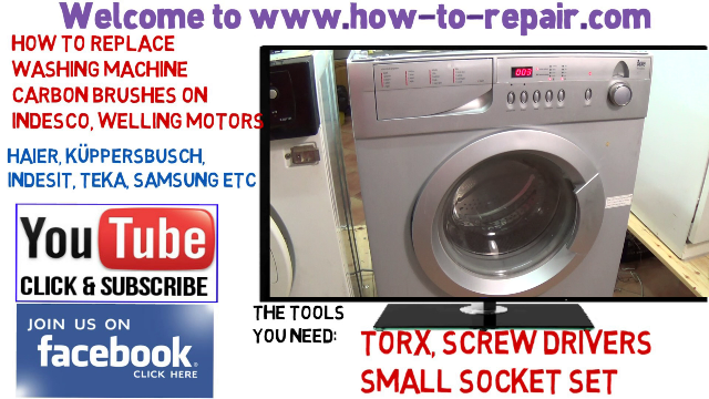 How To Replace Washing Machine Motor Carbon Brushes In A