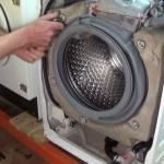 tension the block by hand on your Aeg, Electrolux, John Lewis, Zanussi washing machine.