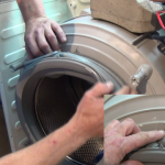 replacing Zanussi washing machine door gasket - Copy